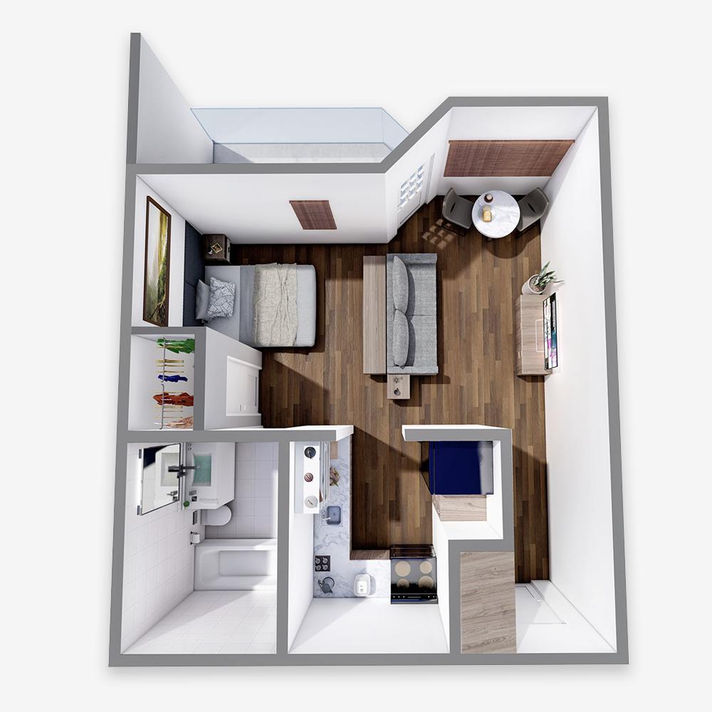 One Bedroom Studio - The Arbors