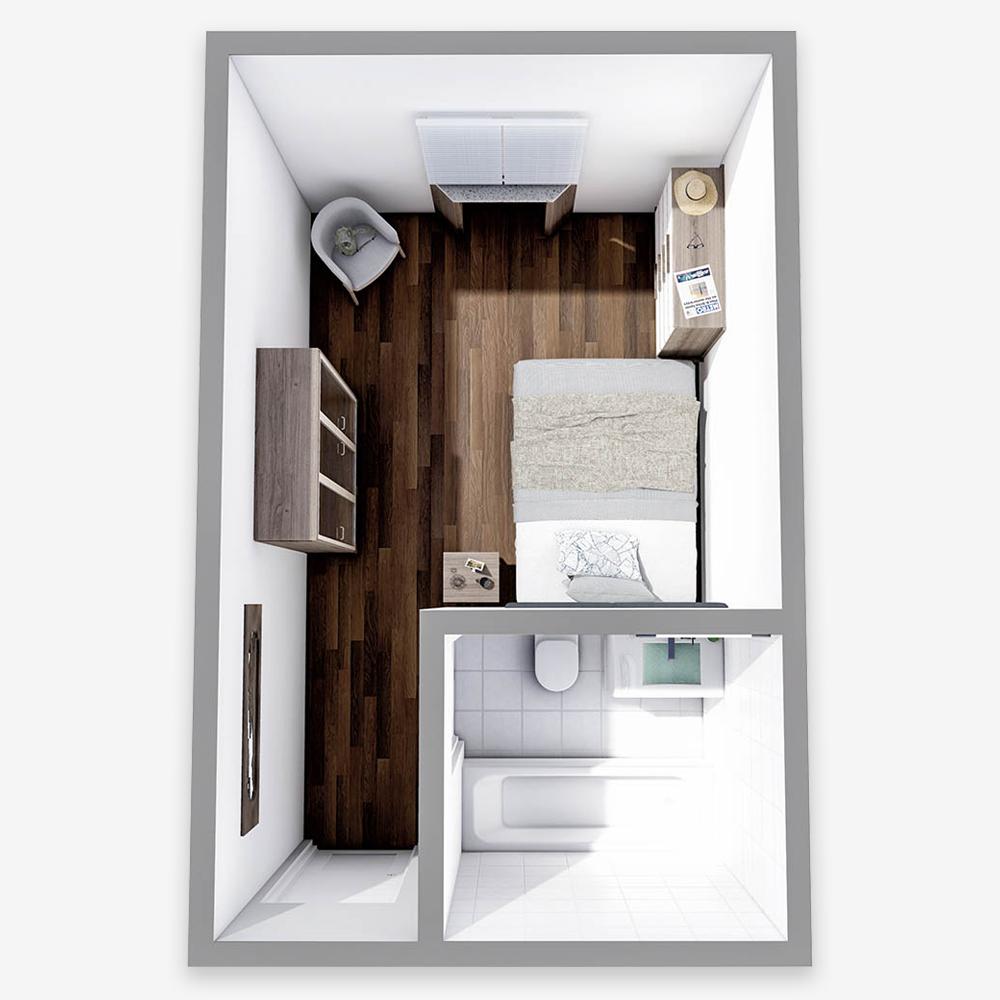 One Bedroom Studio - Woodside Place