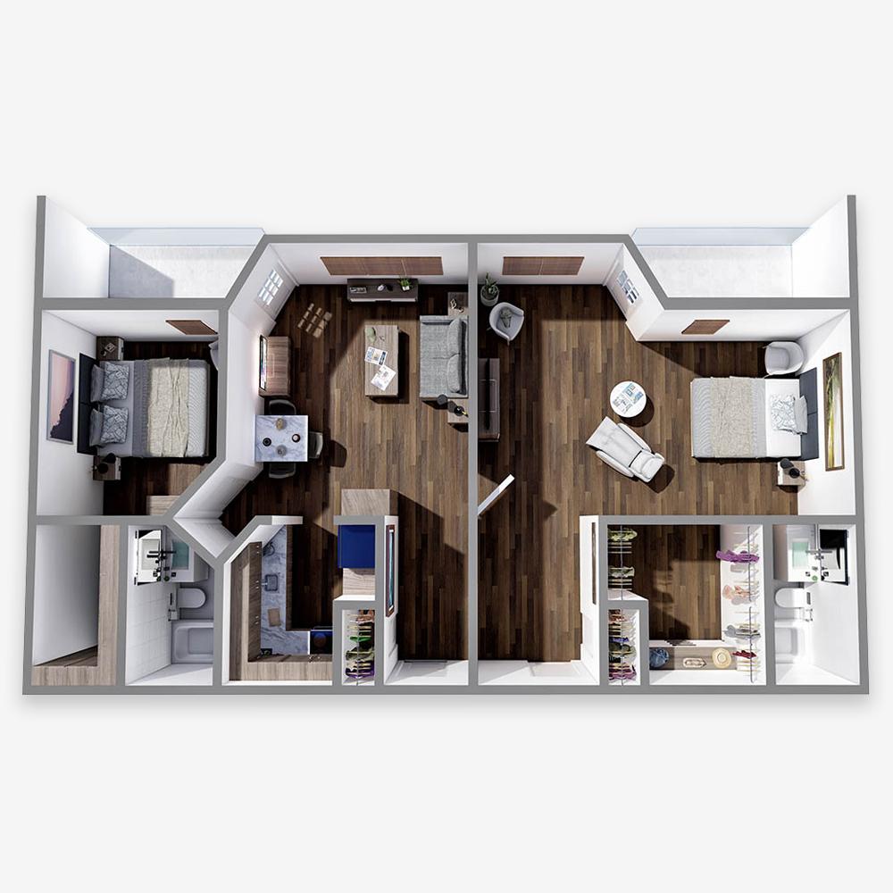 One Bedroom Suite - The Arbors