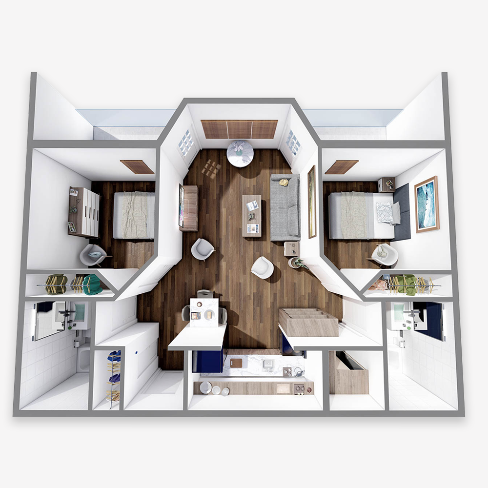 Two Bedrooms - The Arbors